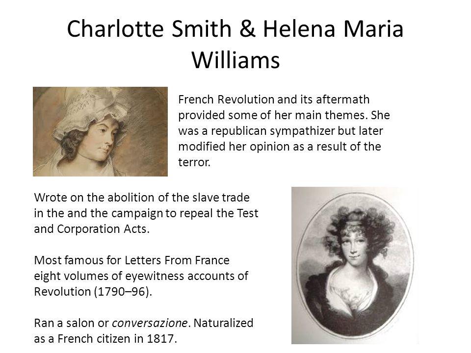 Charlotte Smith & Helena Maria Williams