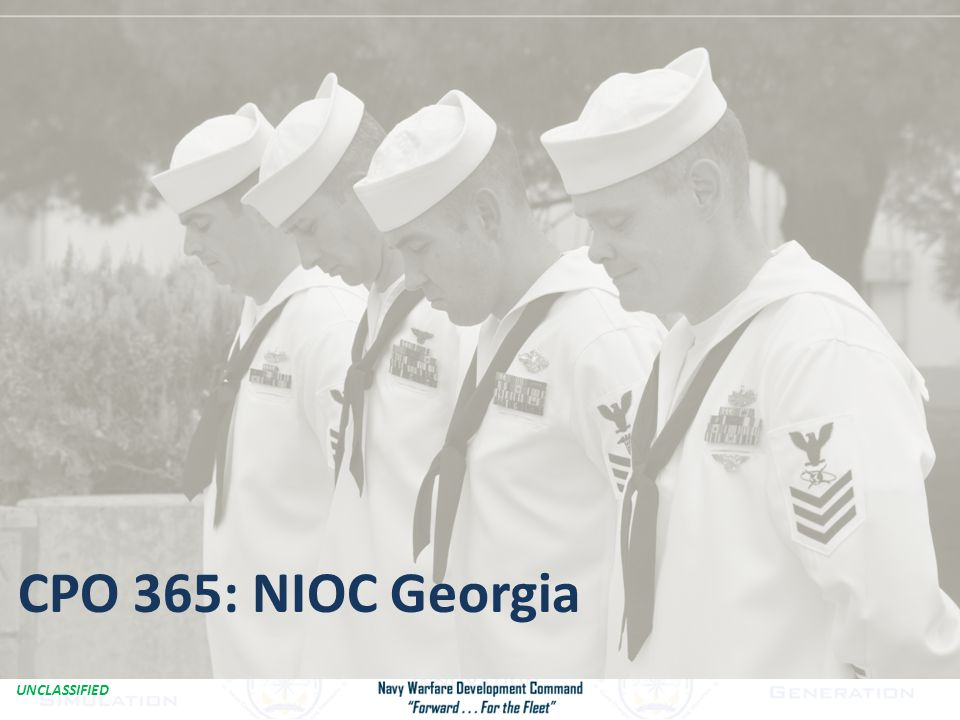 CPO 365: NIOC Georgia Combat iPad