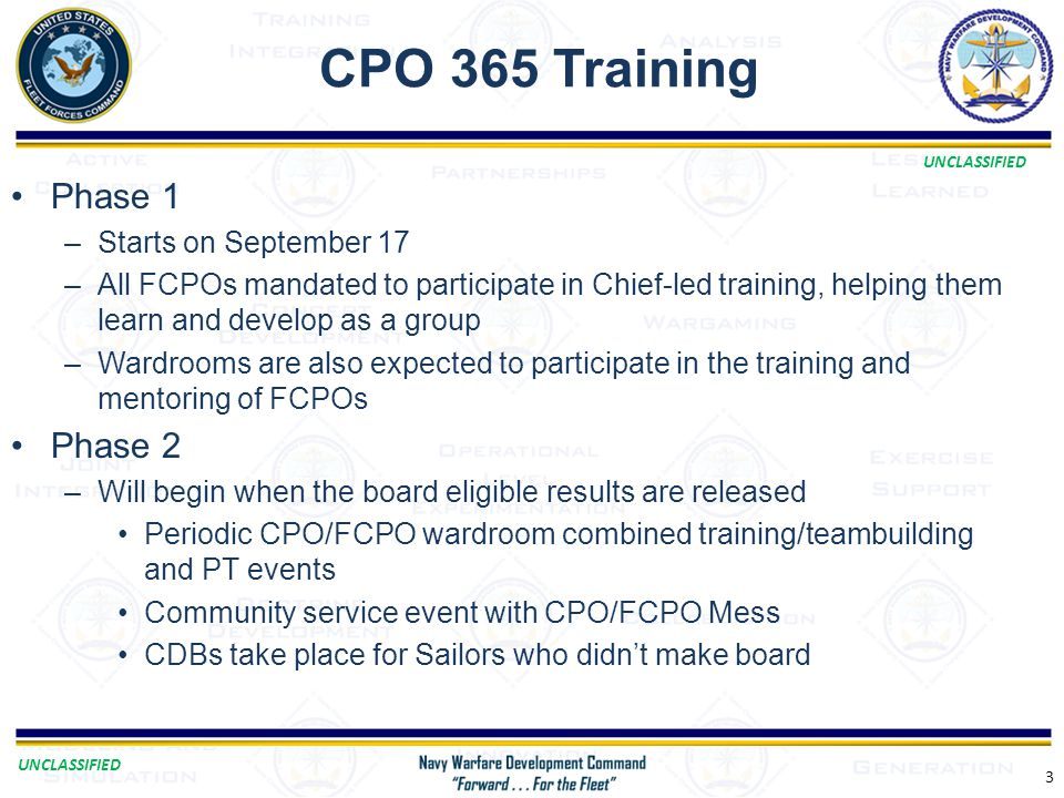 CPO 365 Training Phase 1 Phase 2 Starts on September 17