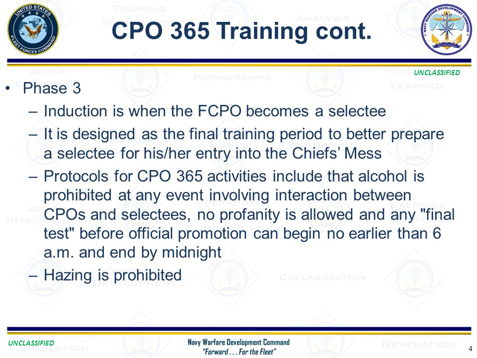 CPO 365 Training cont. Phase 3