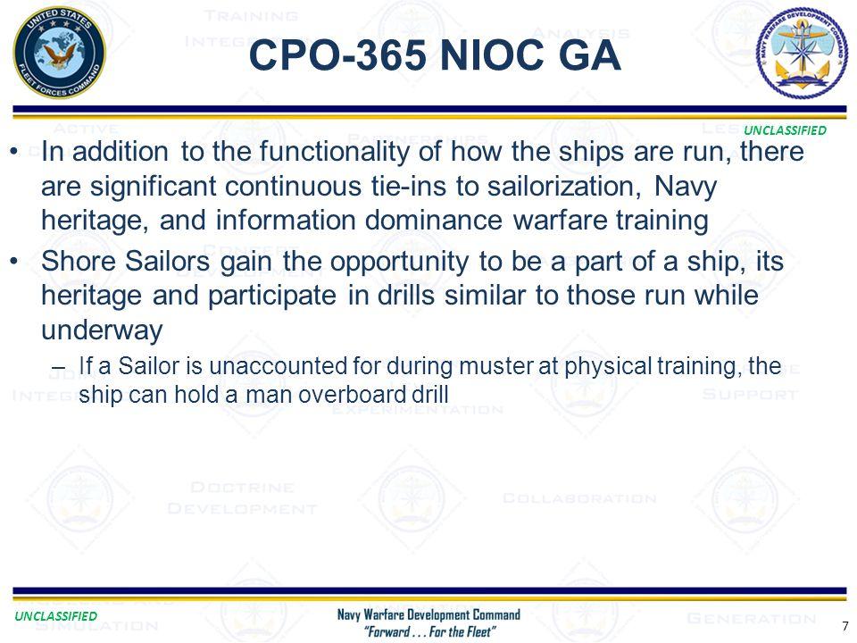 CPO-365 NIOC GA