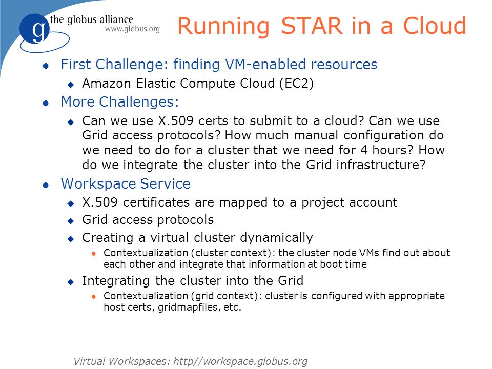 Running STAR in a Cloud First Challenge: finding VM-enabled resources