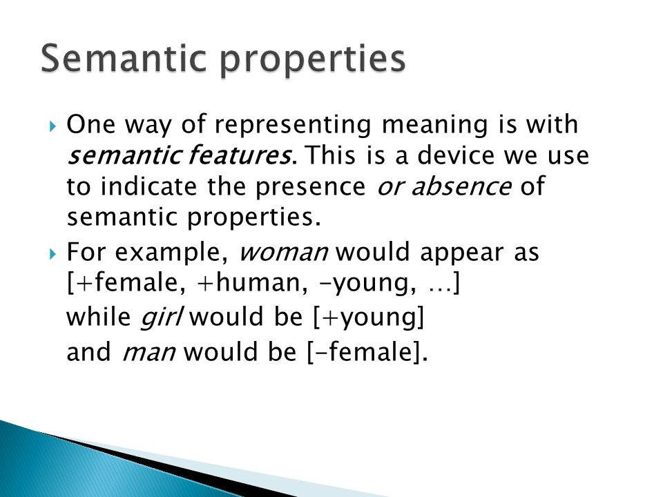 Semantic properties