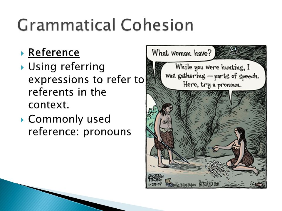Grammatical Cohesion Reference