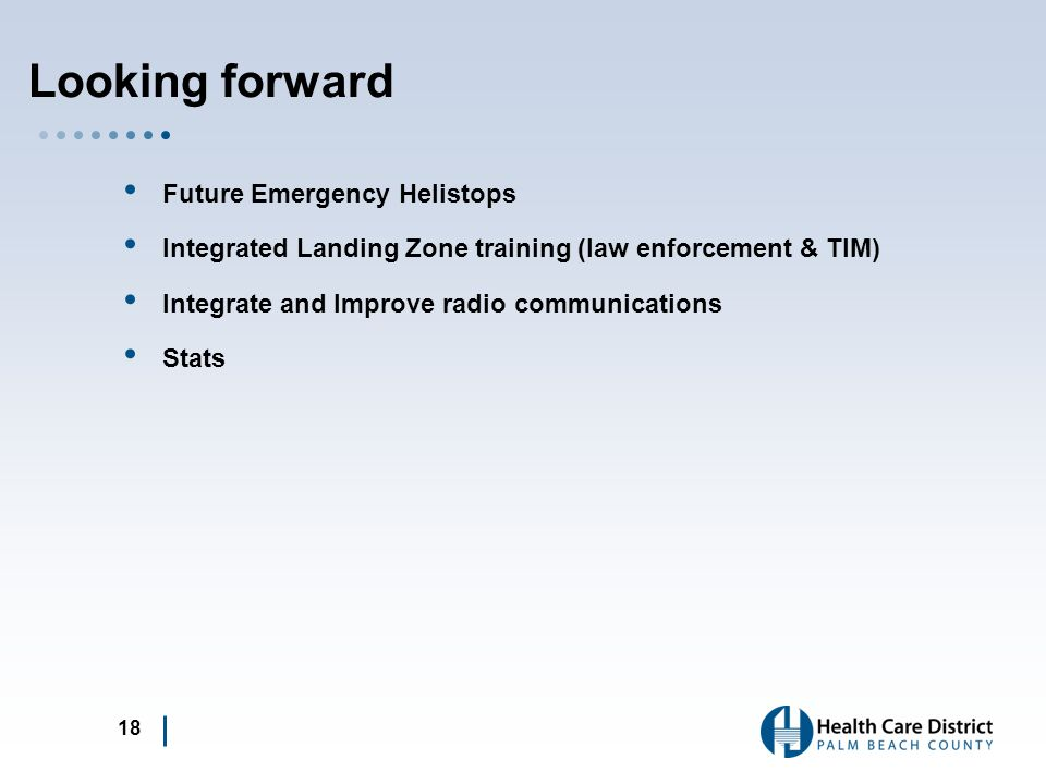 Looking forward Future Emergency Helistops