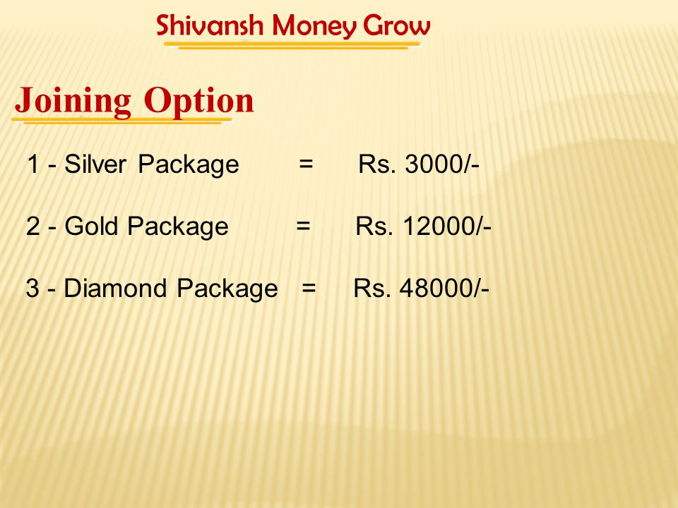 3 - Diamond Package = Rs. 48000/-