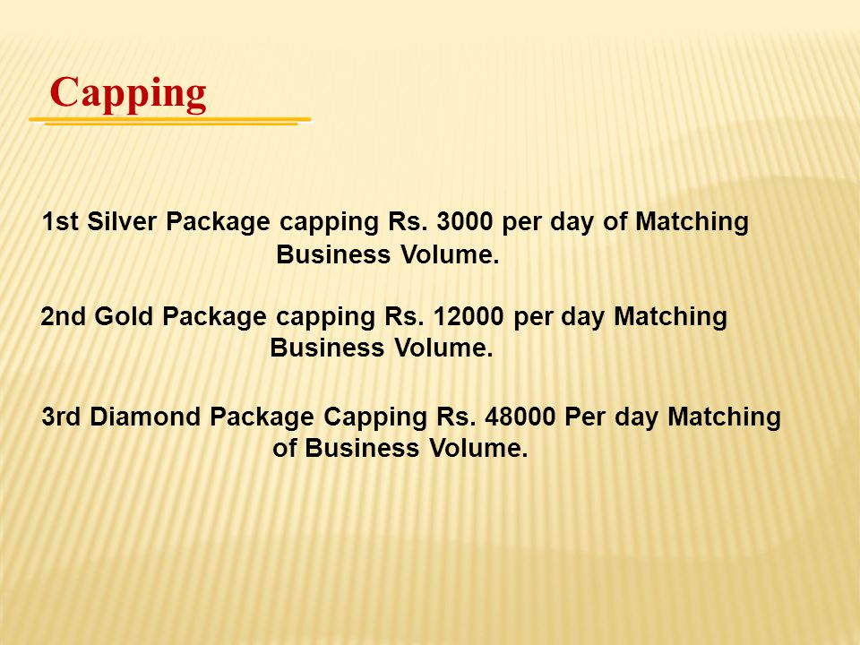 Capping 1st Silver Package capping Rs. 3000 per day of Matching