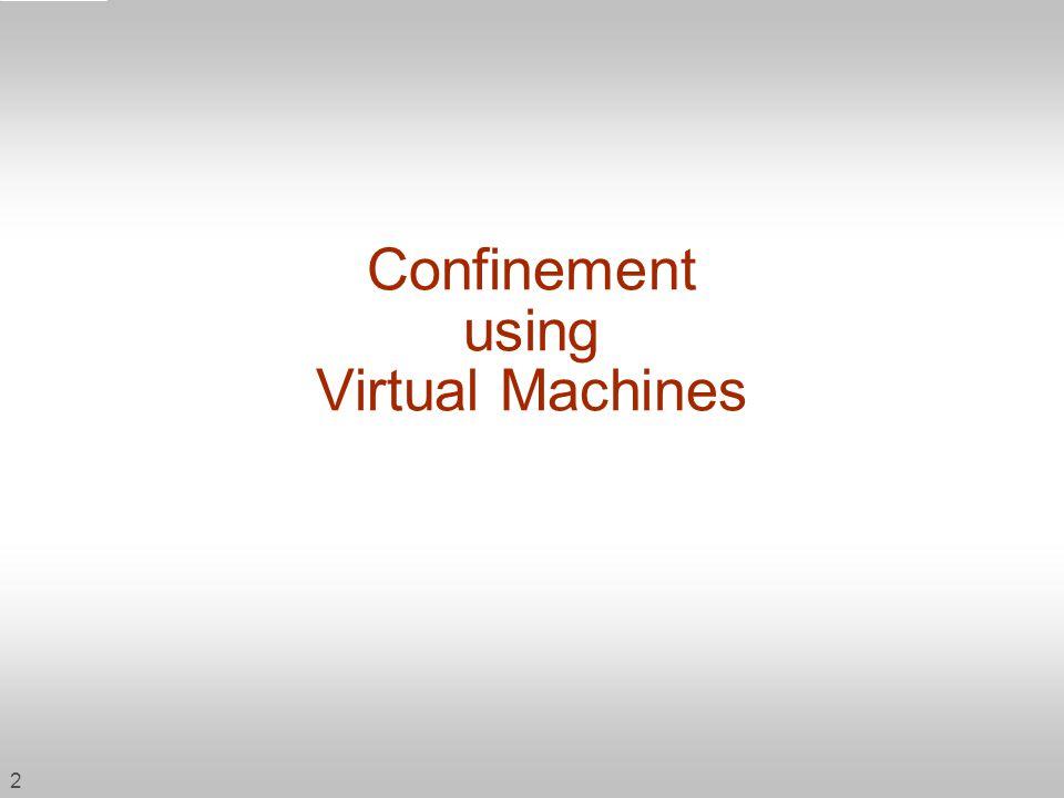 Confinement using Virtual Machines