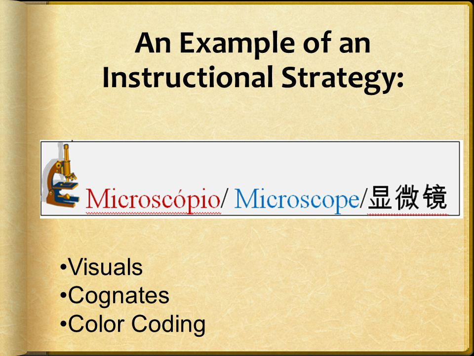 An Example of an Instructional Strategy: