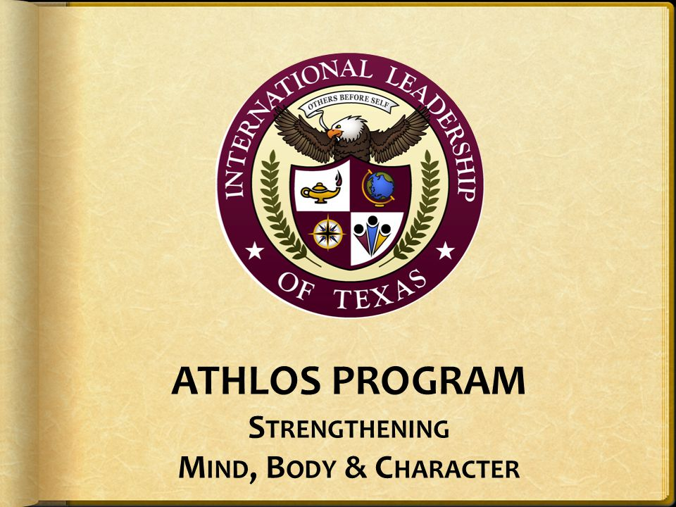 ATHLOS PROGRAM Strengthening Mind, Body & Character