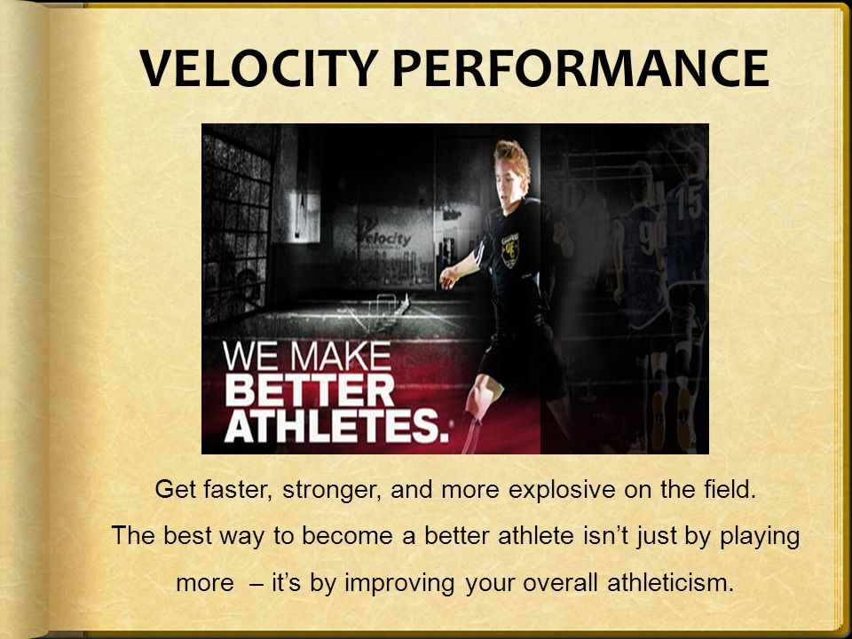 Get faster, stronger, and more explosive on the field.