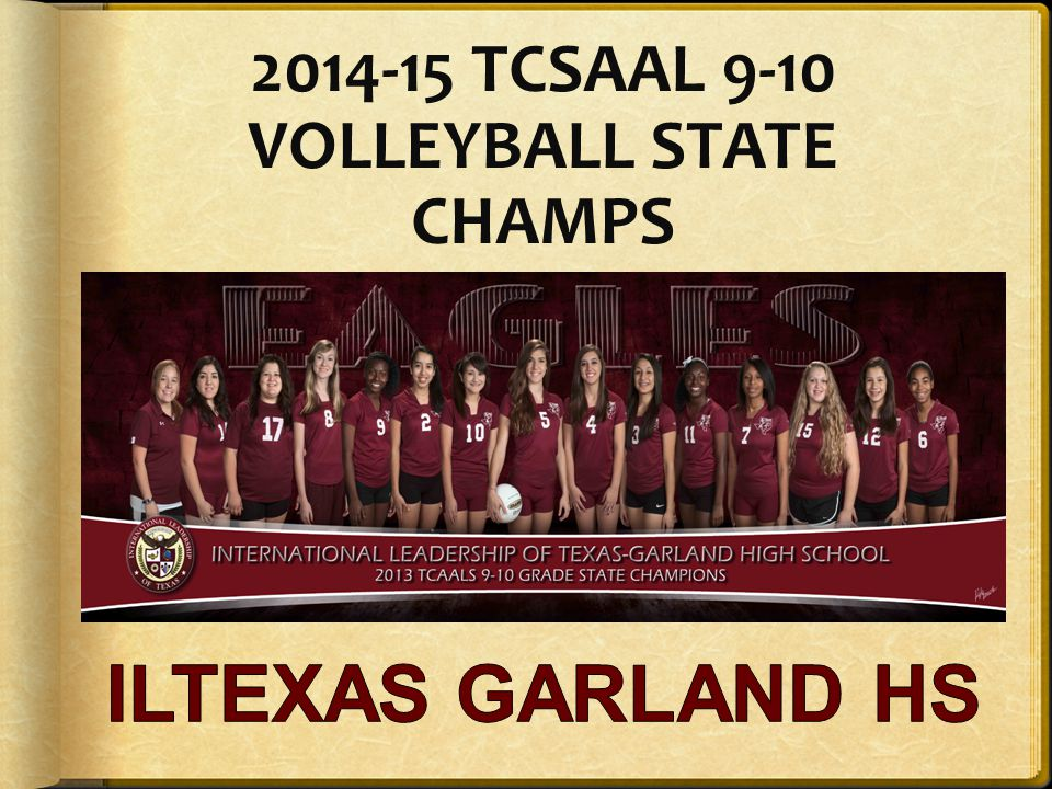 2014-15 TCSAAL 9-10 VOLLEYBALL STATE CHAMPS