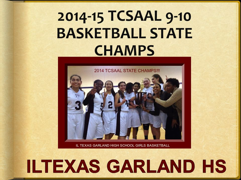 2014-15 TCSAAL 9-10 BASKETBALL STATE CHAMPS
