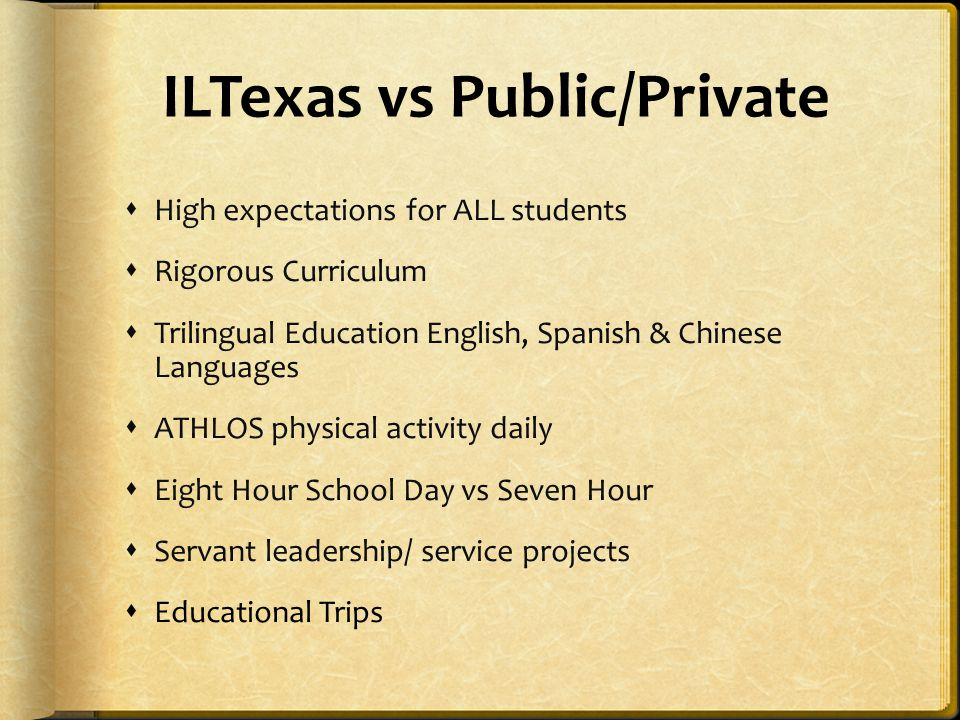 ILTexas vs Public/Private
