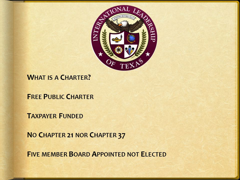 What is a Charter.