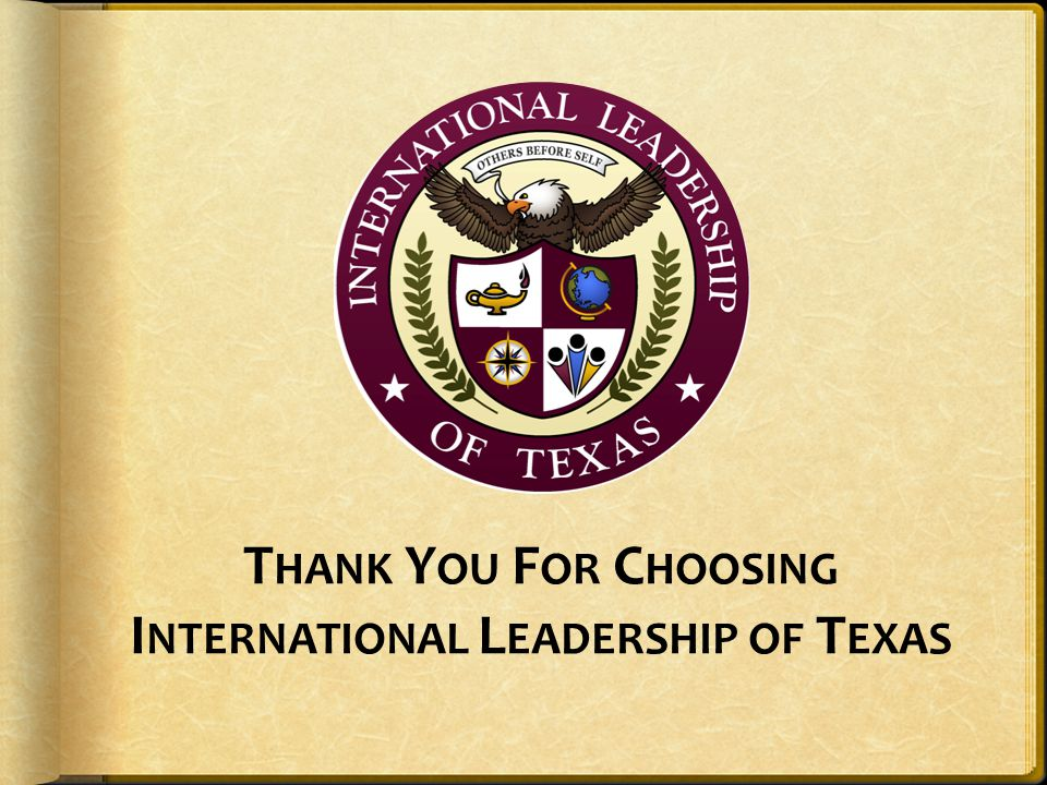 Thank You For Choosing International Leadership of Texas