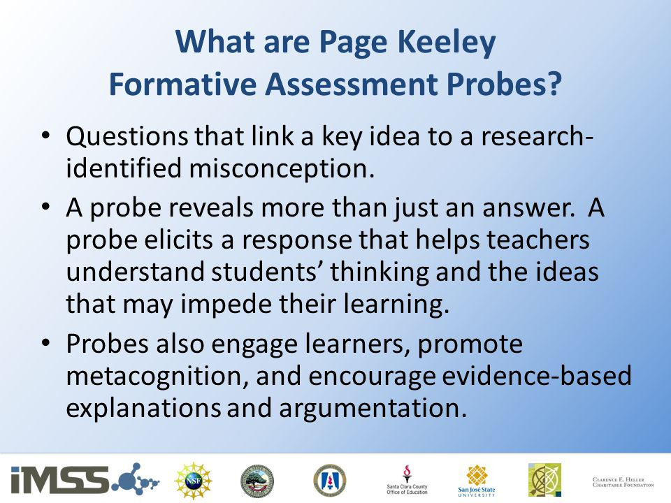 What are Page Keeley Formative Assessment Probes