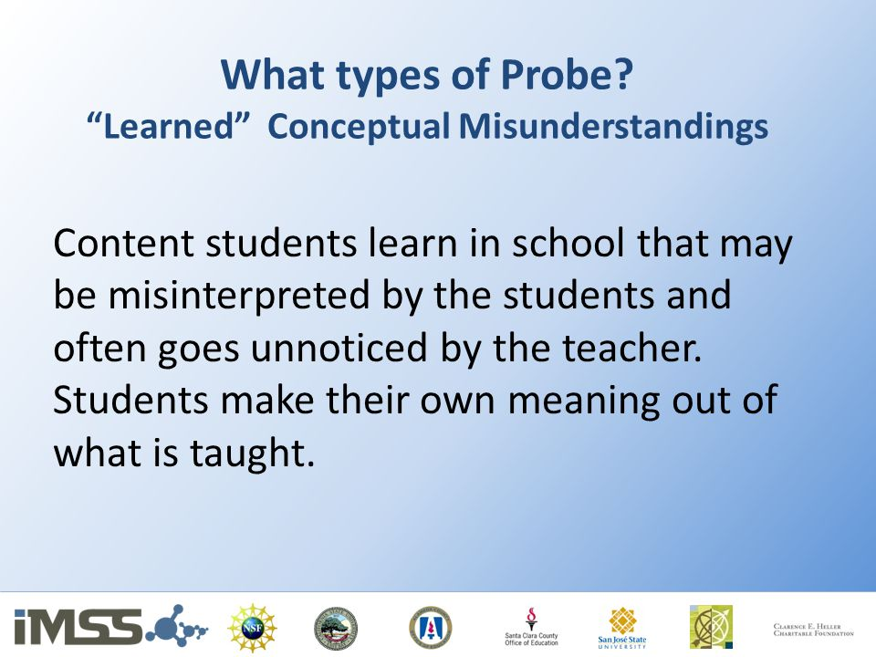 What types of Probe Learned Conceptual Misunderstandings