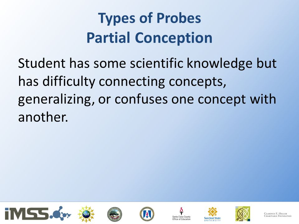 Types of Probes Partial Conception
