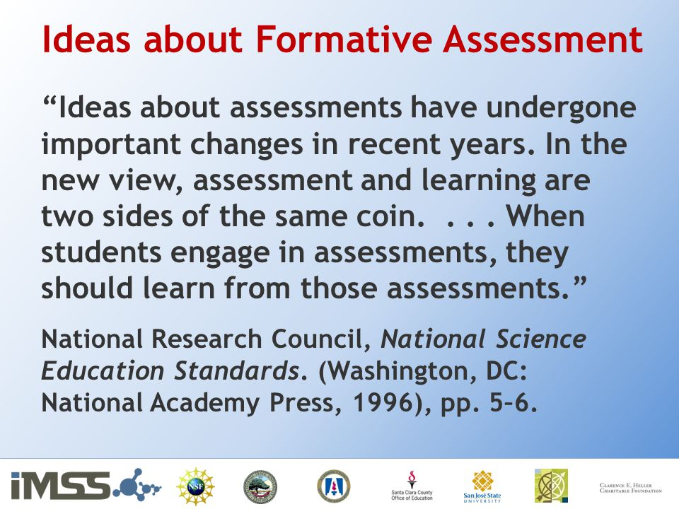 Ideas about Formative Assessment