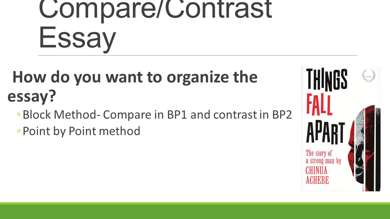compare contrast essay using point point method • the comparison or contrast should make a point for a blank chart to organize your own essay, use the compare/contrast essay point by point method my essay.