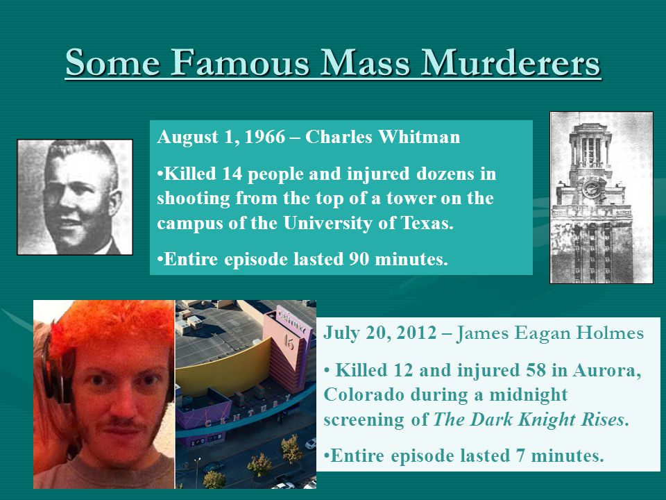 Some Famous Mass Murderers