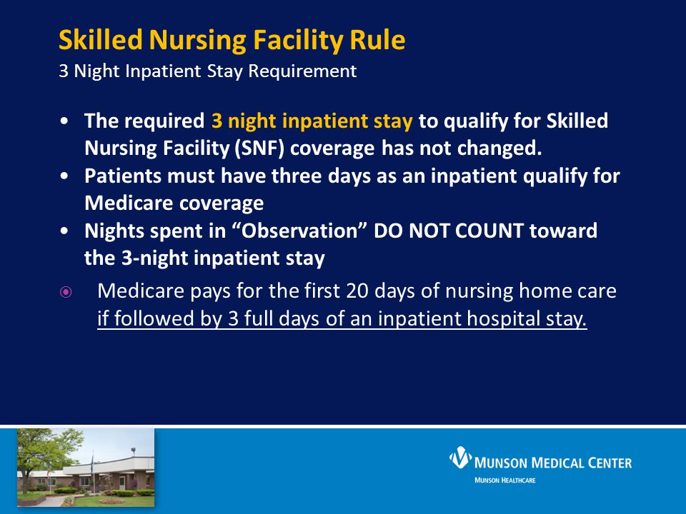 Skilled Nursing Facility Rule 3 Night Inpatient Stay Requirement