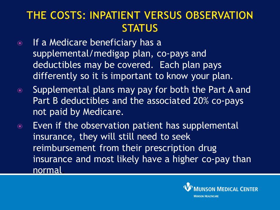 The Costs: Inpatient versus OBSERVATION Status