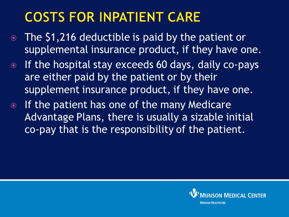 costs for Inpatient care