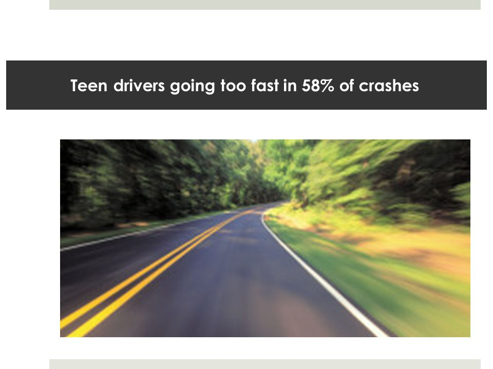 Teen drivers going too fast in 58% of crashes