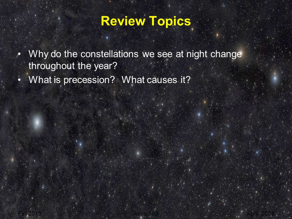 Review For Quiz Fall 2014 Astro 1
