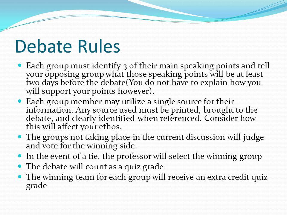 Debate Rules