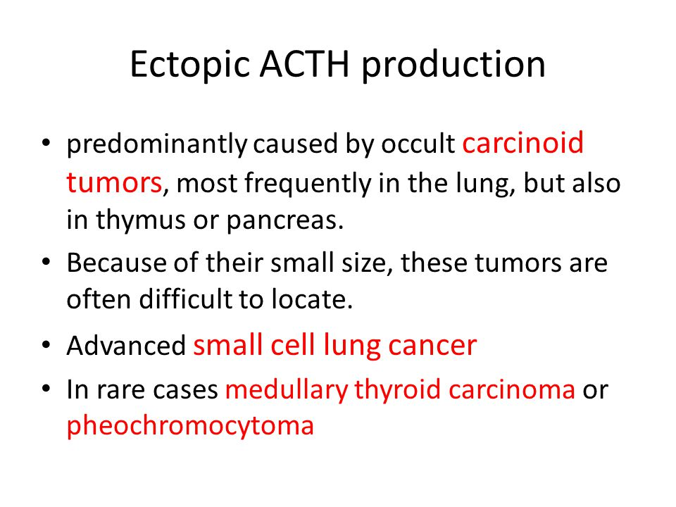 Ectopic ACTH production
