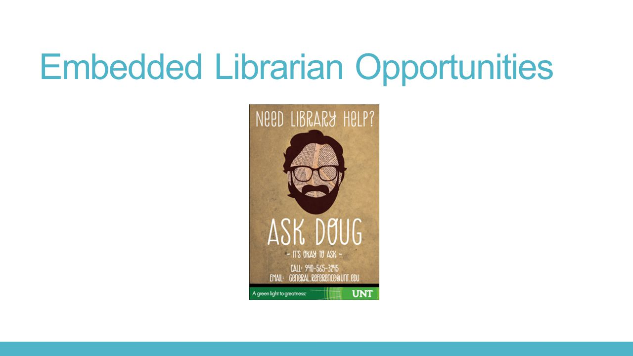 Embedded Librarian Opportunities
