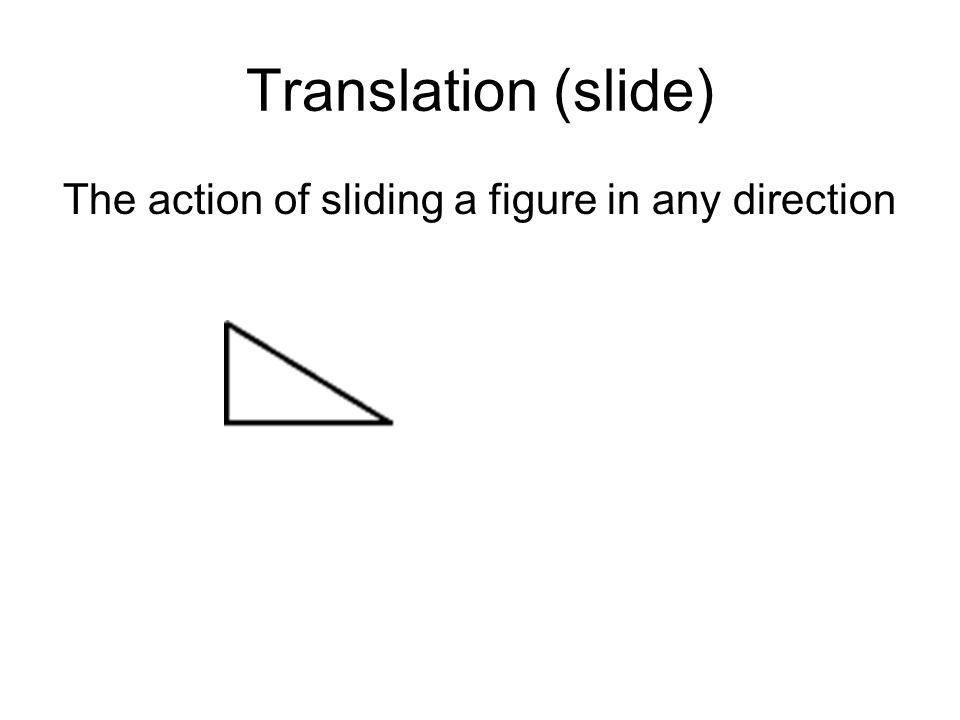 The action of sliding a figure in any direction