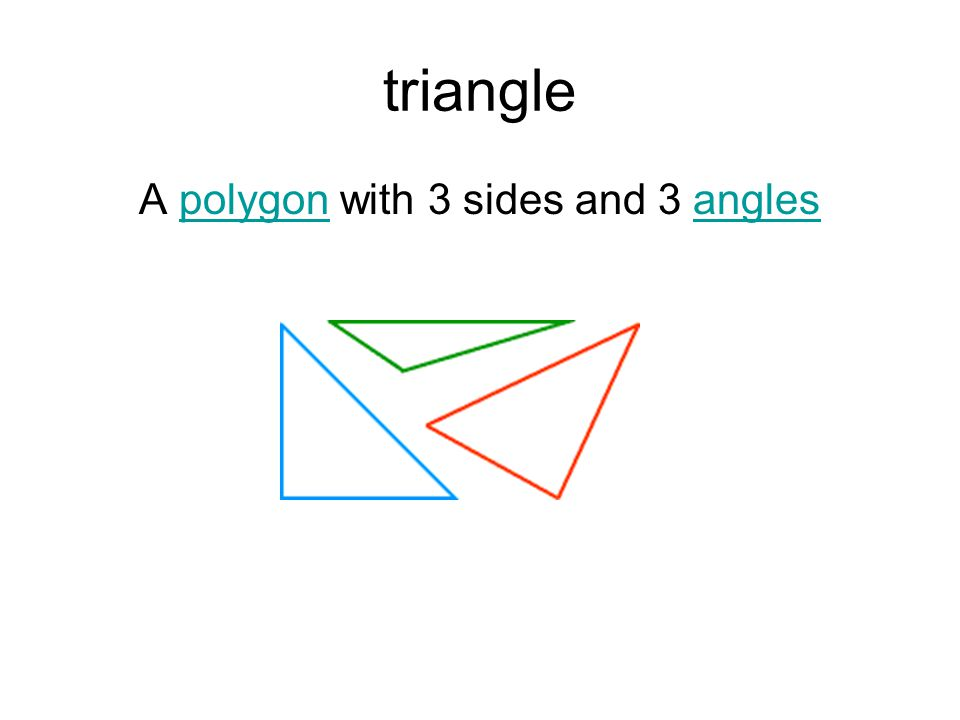 A polygon with 3 sides and 3 angles