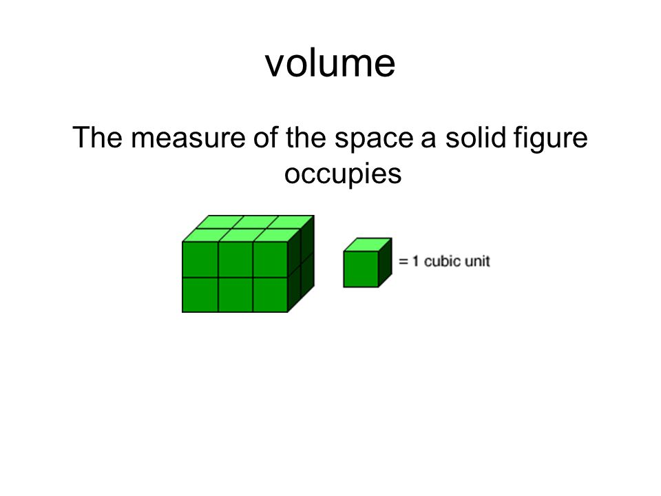 The measure of the space a solid figure occupies