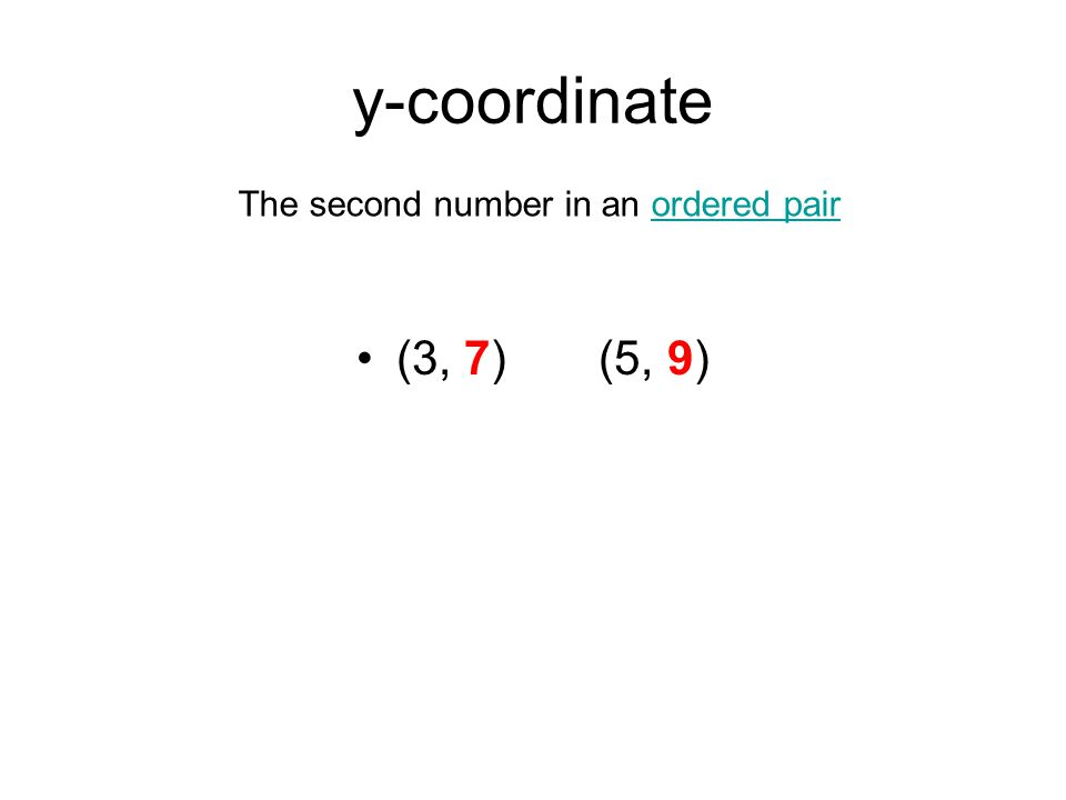 The second number in an ordered pair