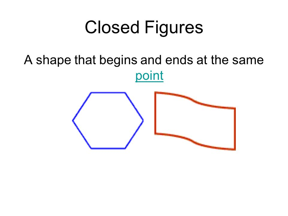 A shape that begins and ends at the same point