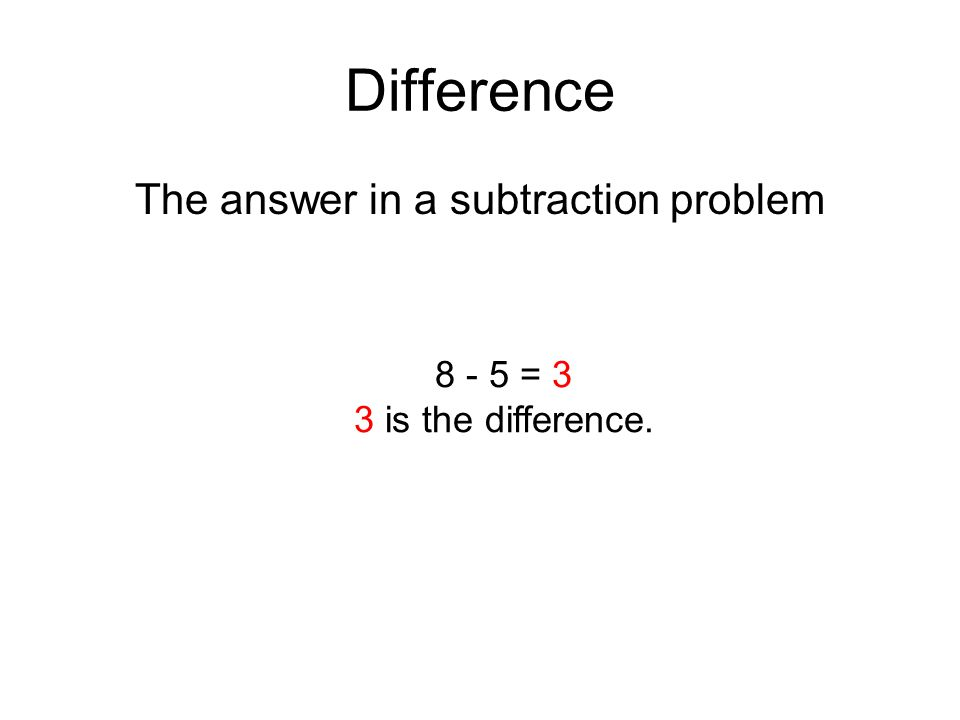 The answer in a subtraction problem