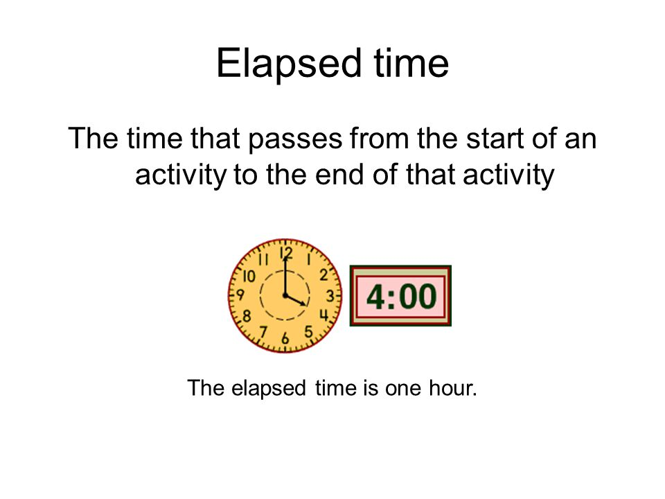 The elapsed time is one hour.