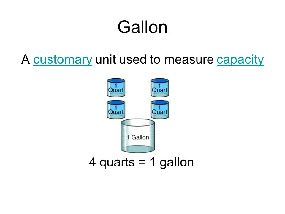 A customary unit used to measure capacity