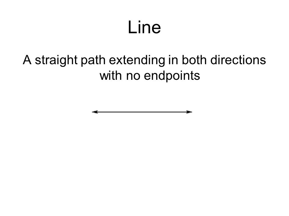 A straight path extending in both directions with no endpoints