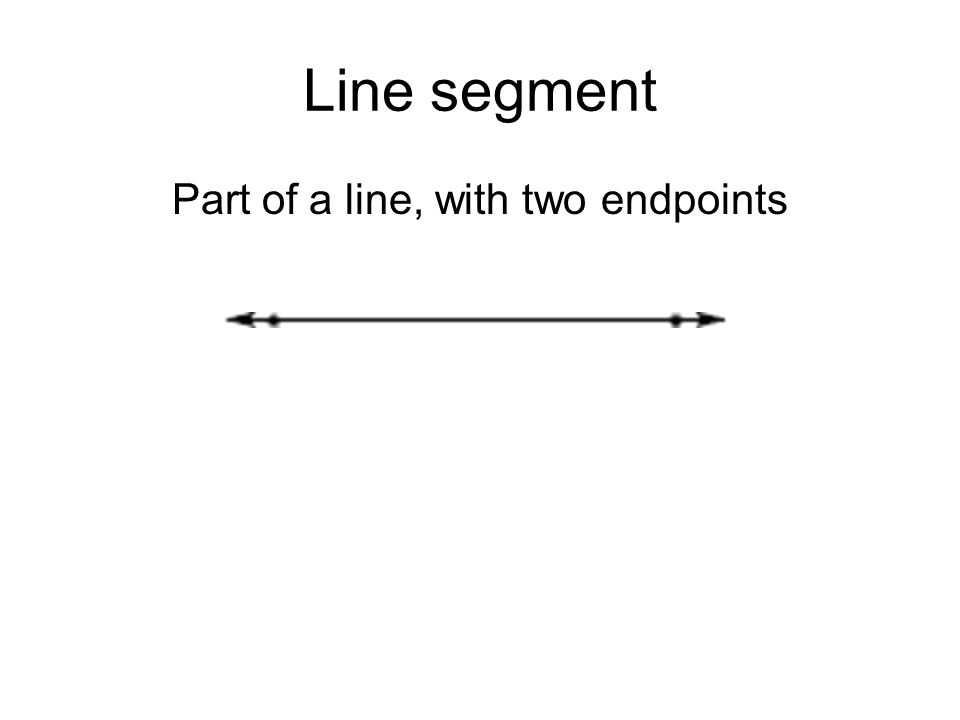 Part of a line, with two endpoints