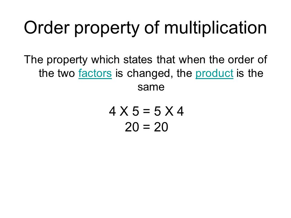 Order property of multiplication