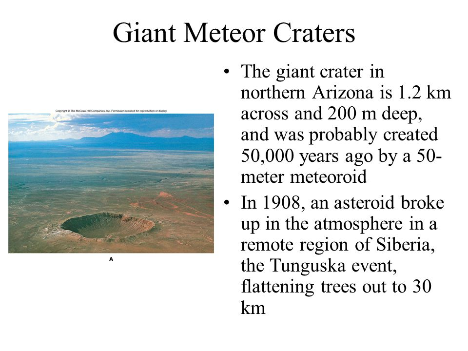Giant Meteor Craters