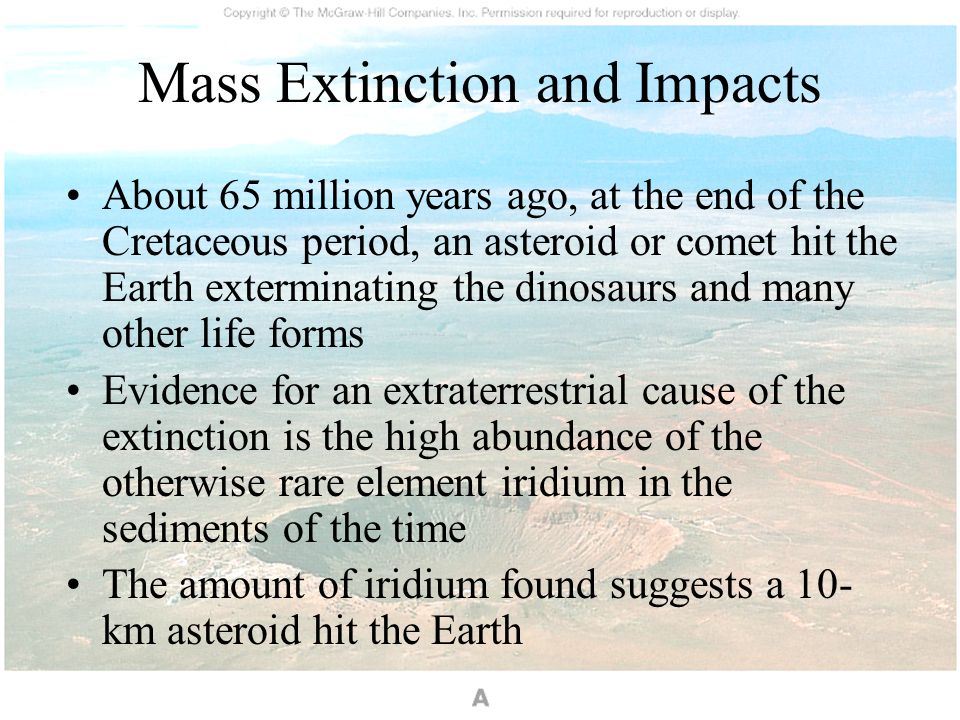 Mass Extinction and Impacts