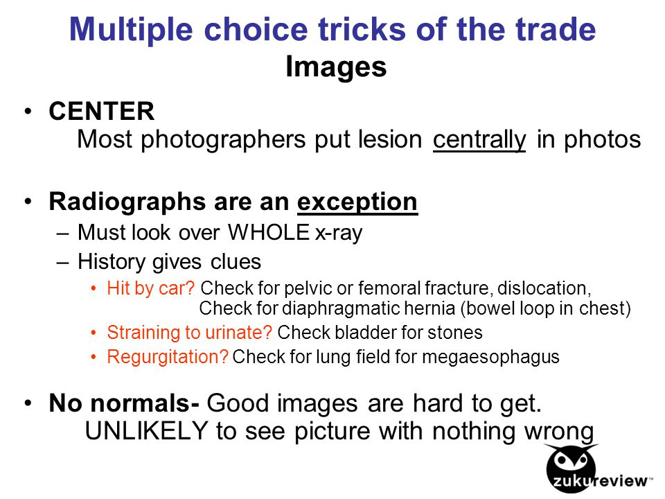Multiple choice tricks of the trade Images