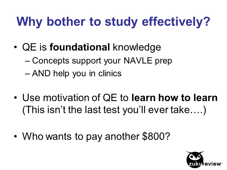 Why bother to study effectively