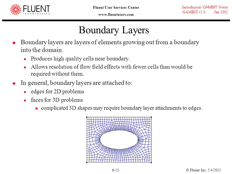 Boundary Layers Boundary layers are layers of elements growing out from a boundary into the domain.